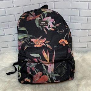 Vans Black Floral Backpack